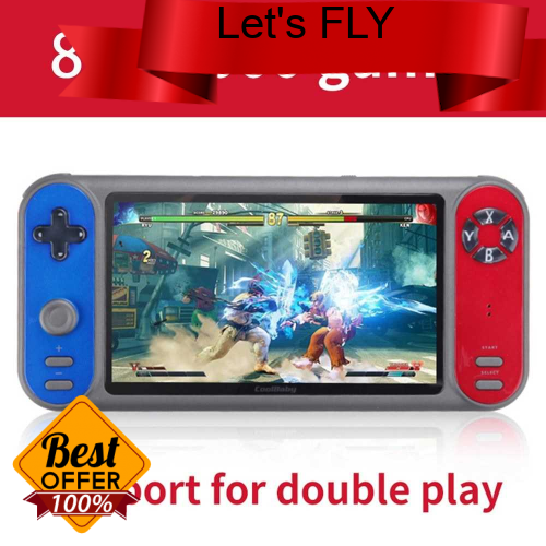 Great Discount 7in 8GB Handheld Video Game Console Support GBA GBC GB SFC FC MD NES MAME format Games TF Card (Standard