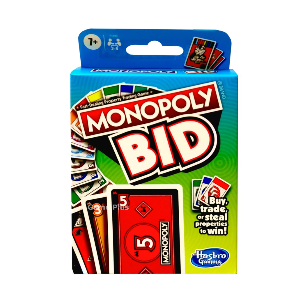 Hasbro Monopoly Bid Card Game