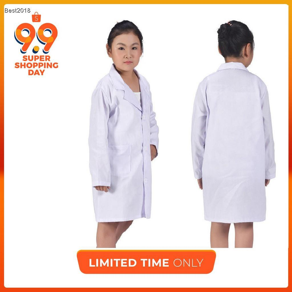 In Stock Child Kid White Lab Coat Doctor Scientist School Halloween Party Dress Costume