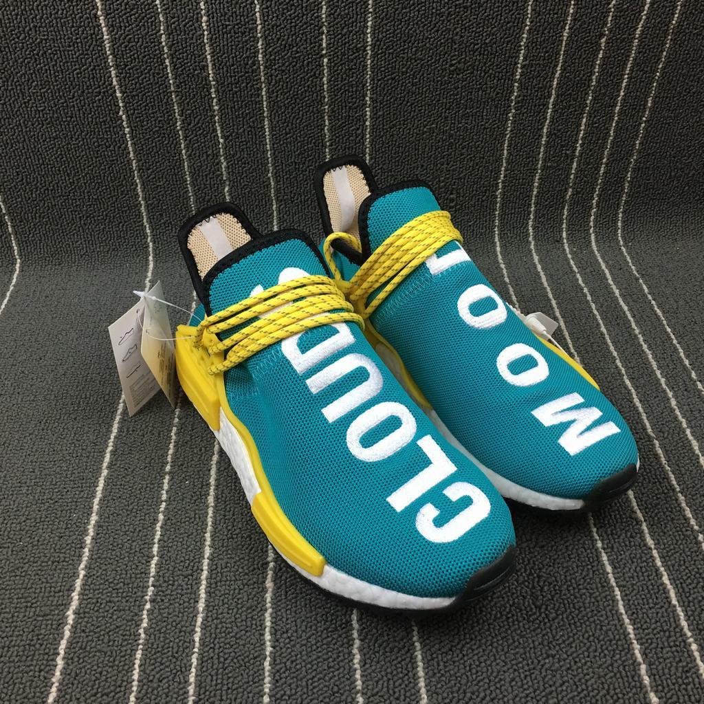 Adidas Originals NMD Pharrell Williams x Hu Trail NERD MenWomen Runnig Shoes