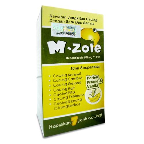 M-ZOLE Suspension (Mebendazole 500mg) - Deworming / Ubat Cacing 10ml