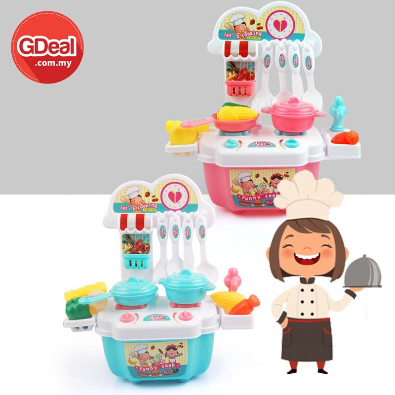 GDeal Children's Playhouse Kitchen Playset Early Education Creative Cooking Multi-Functional Toys