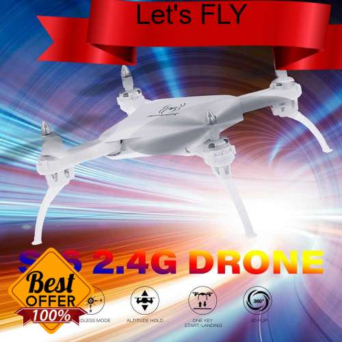Great Discount YILE TOYS S16 2.4G RC Drone Altitude Hold Headless Mode Foldable Quadcopter for Beginners (White)