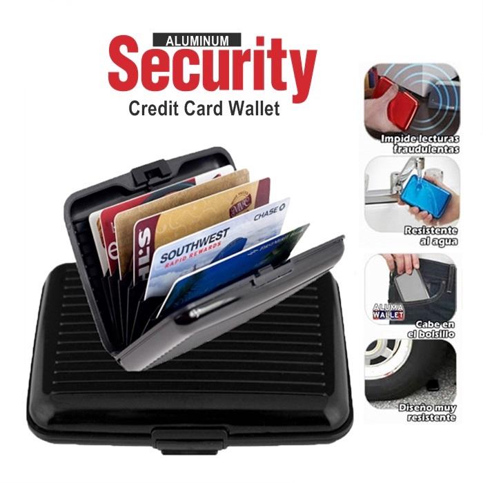 MALAYSIA: WALLET ALUMINIUM KESELAMATAN Credit Card Cash Money ID Holder