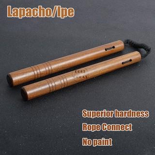 28cm Chinese Kung fu Wooden Nunchuck Training Toy Martial Nunchaku Durable Bag /&