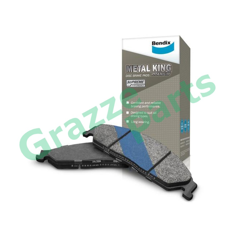 Bendix Metal King Titanium Disc Brake Pad Front DB1818 - Suzuki Swift 2005-2011