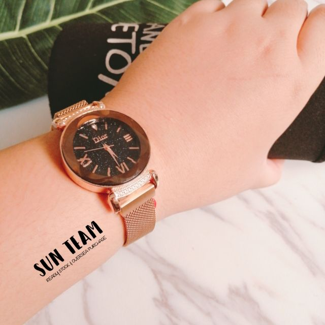 Promotion Dior Women Watch Magnet Iron Strap Shopee Malaysia