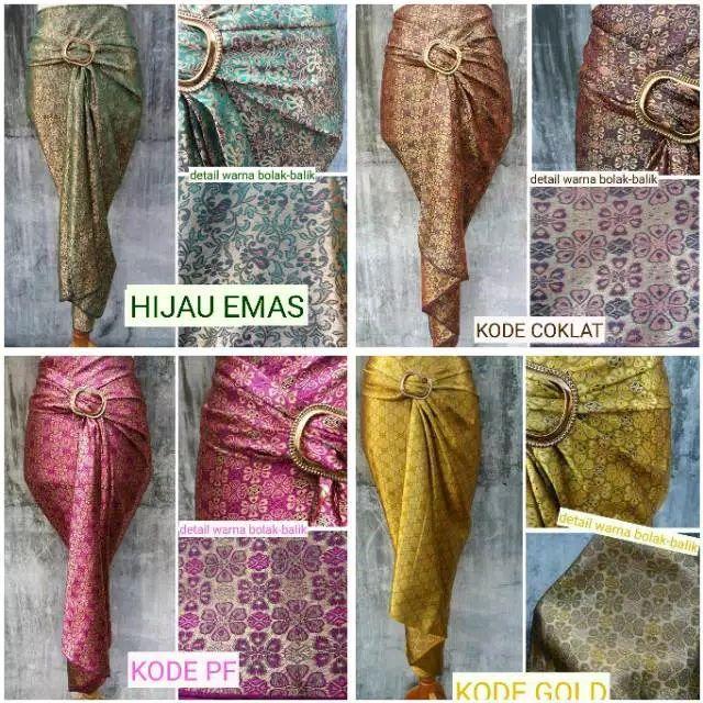 ready stock Skirt pario lilit corak songket
