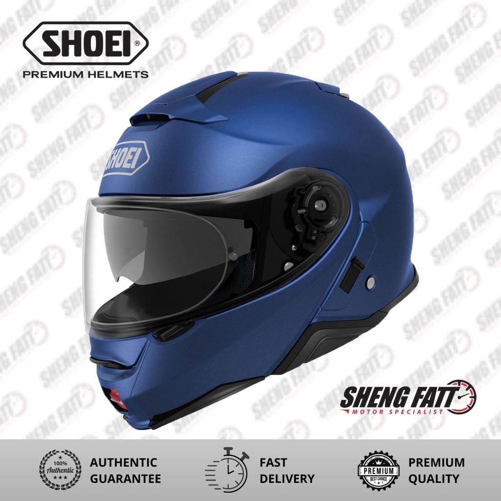 SHOEI Neotec 2 Metallic Matt Blue Helmet for Motorcyclist Superbike
