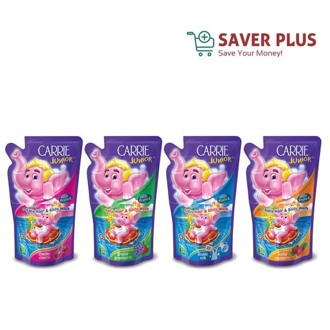 Carrie Junior Baby Hair And Body Wash Refill Pack 500ml