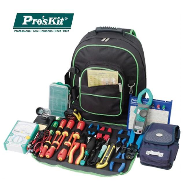 3f12cf6de5e5 9ST-307 Multipurpose Double Shoulders Tool Bag Electrician Toolkit Backpack