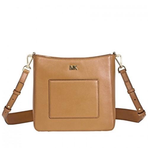 694ec9842391 Michael Kors Gloria Leather Messenger Bag- Acorn 30F8GG0M2L-203 ...