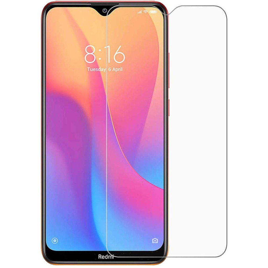 XIAOMI REDMI 8 NORMAL TEMPERED GLASS NOT FULL SCREEN, ANTI SCRATCH, REAL TEMPERED GLASS PROTECTOR