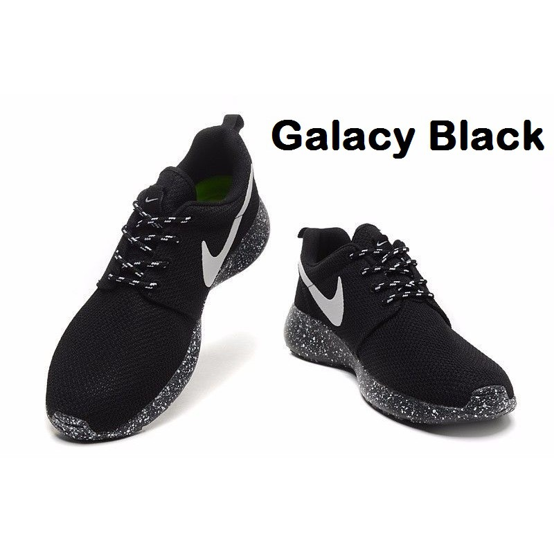 huge selection of 53f40 955bd Nike Roshe Run Speckled White Womens Mens Sail Black Flower Snow   Shopee  Malaysia