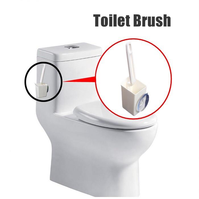 Toilet Brush and Holder Set Bristles Bathroom Cleaning