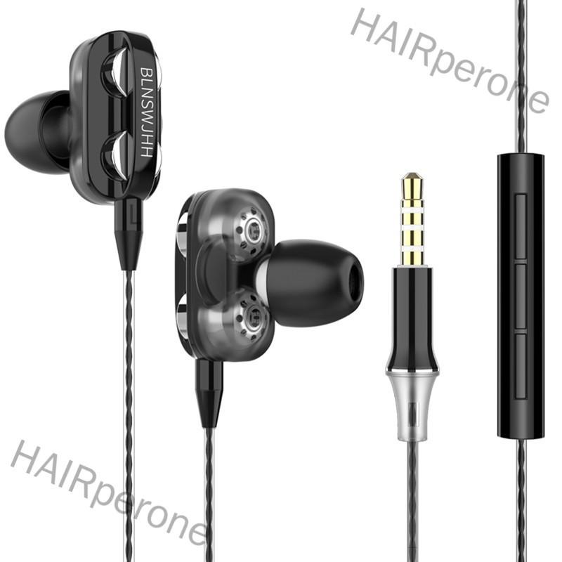 HAIRperone Wired Earphone HiFi Super Bass 3.5mm In-Ear Headphone Stereo Earbuds Ergonomic Sports Headsest Birthday Gift