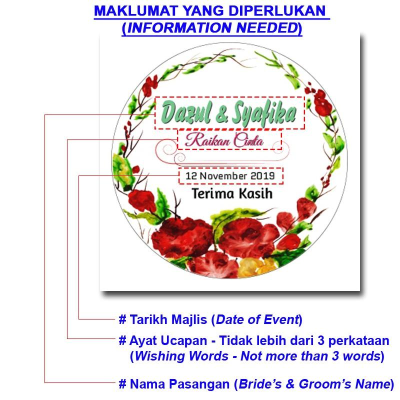 Sticker Majlis Perkahwinan Bulat - Wedding Sticker Round Part 4