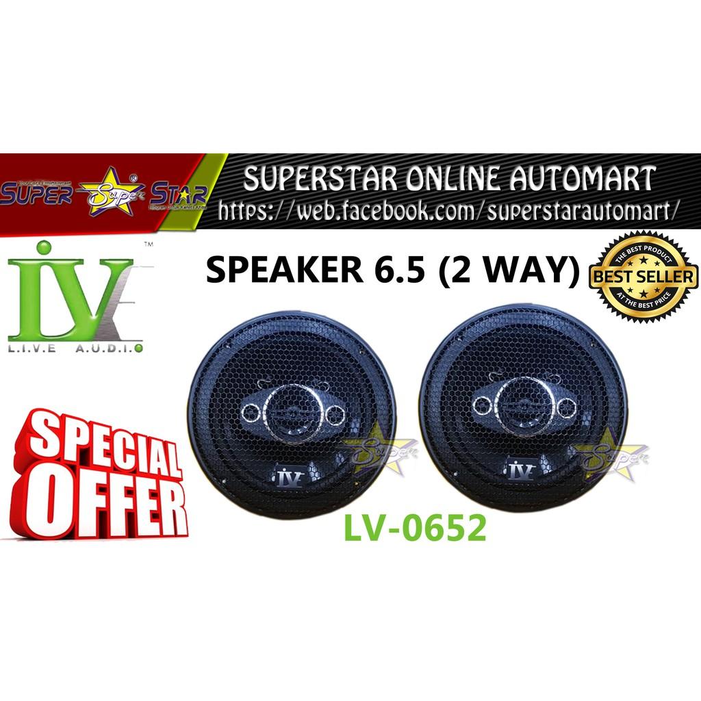 LIVE AUDIO 2 WAY SPEAKER 6.5 (LV-0652)