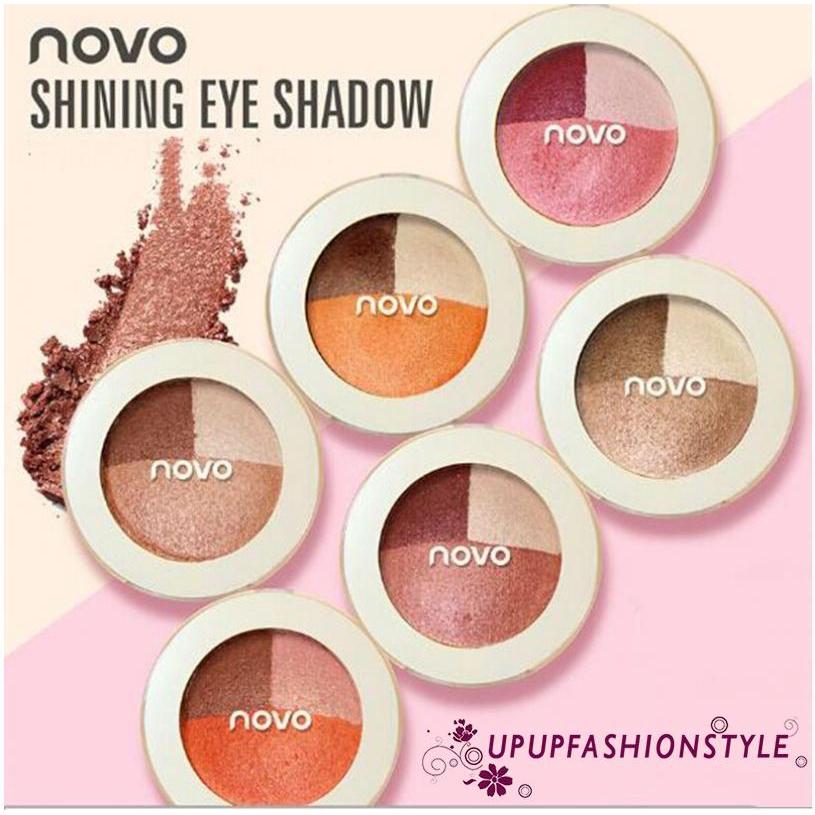 ✽UPUP✽NOVO Fashion 3 Color Eyeshadow Palette Natural Make Up Earth Nude