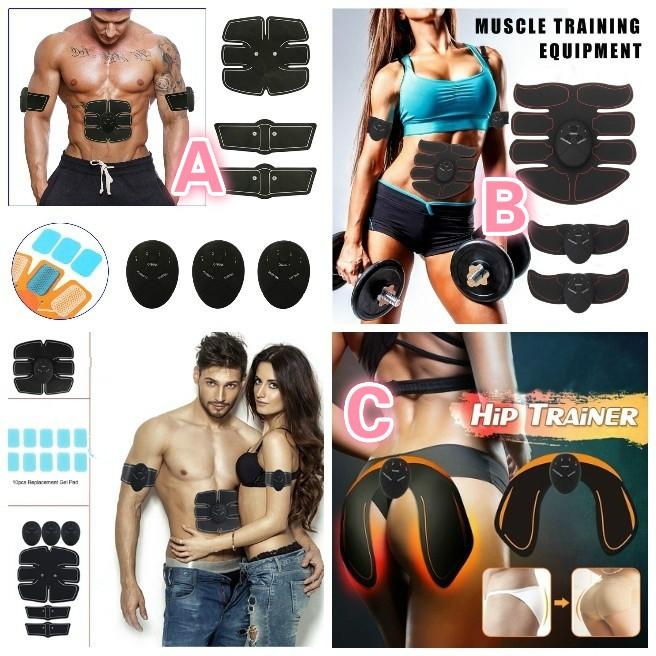 20X Gel Pads Sheet ABS Stimulator Trainer Abdominal Toning Belt Muscle Toner TB