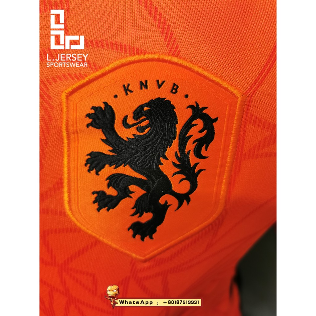 Netherlands Men Home Euro Cup Season 20/21 Stadium Fans Jersey