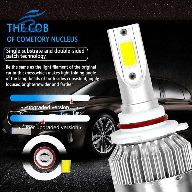 Front Lamp 9005//HB3//H10 6000K LED Headlight 8000LM Car Accessories Universal