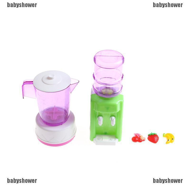 Doll Plastic Juicer Water Dispenser Set For  Kitchen Accessories Kids BS