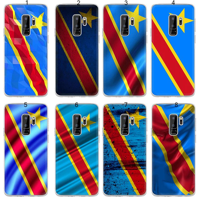 Phone Case for Samsung Galaxy S7 Edge S8 S9 Plus Cover Congo flag