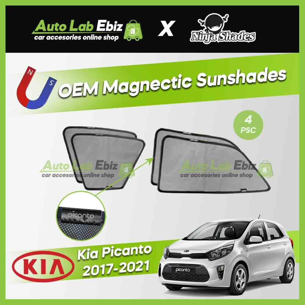 Kia Picanto 2017-2021 Ninja Shades OEM Magnetic Sunshades Foldable (4pcs/set)