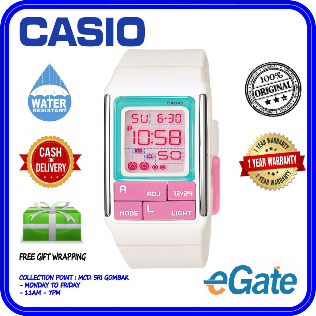Stopwatch 51 Ladies Ldf Light Casio Watch Original Poptone Digital Alarm El 7cdr tQrdxCsh