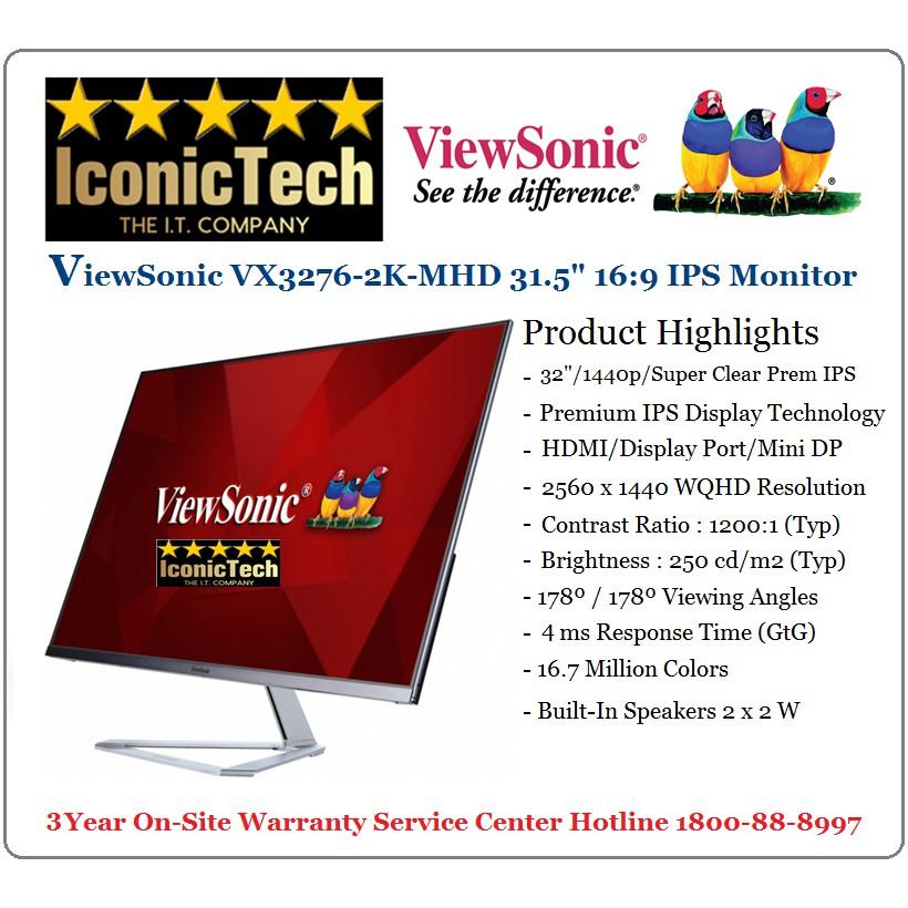Viewsonic VX3276-2K-MHD Premium IPS LED Entertainment Monitor