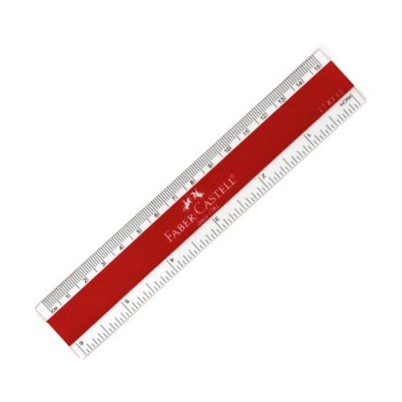 Faber-Castell Plastic Ruler 15cm/18cm/30cm