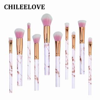 1e9611f703277 10 Pcs Rose Gold Marble Stripe Makeup Brushes Kits Pro Beauty Tool ...