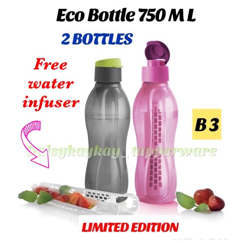 [Readystock ]Tupperware Eco Bottle 750ml (2 pieces)