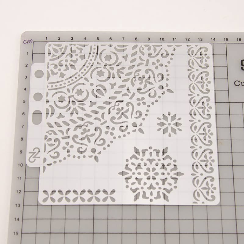 3PCS Hollow Plastic Stencils For Wall Painting Scrapbooking Embossing Craft DIY