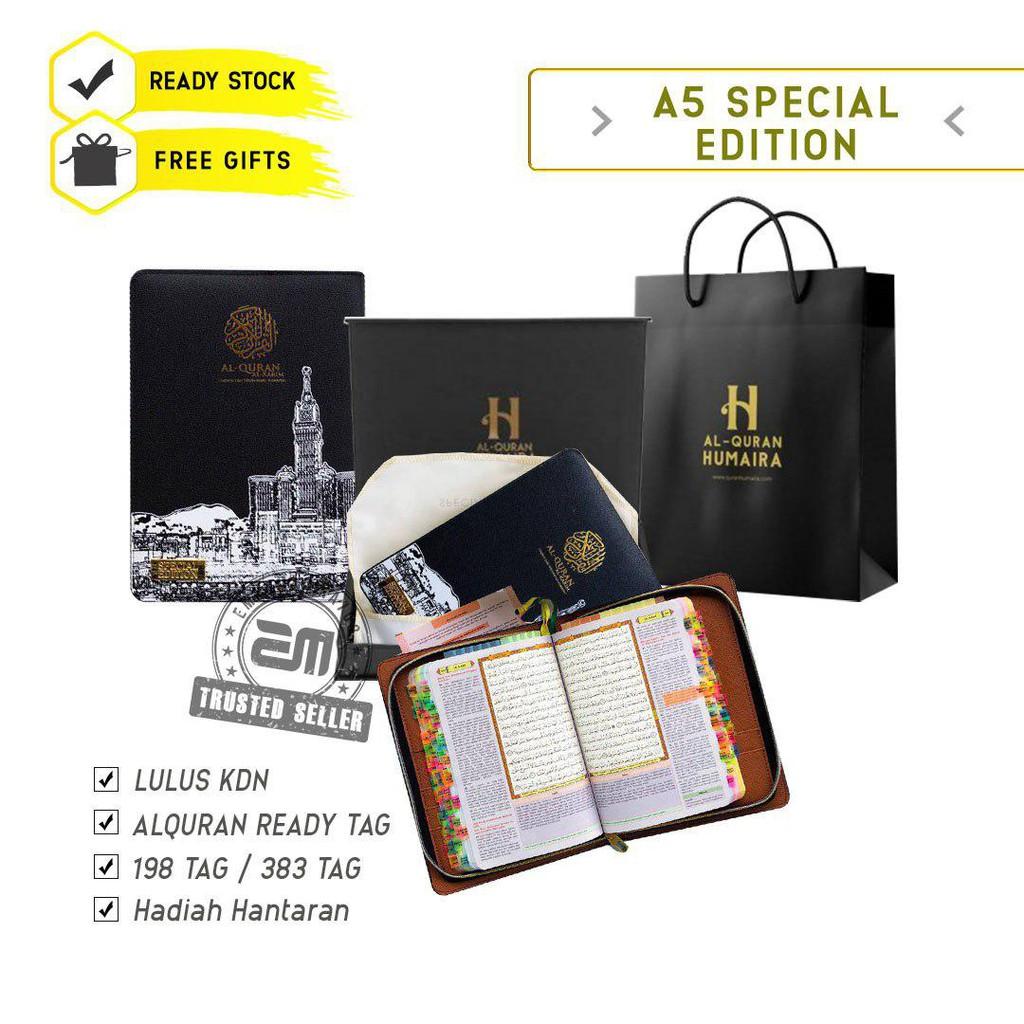 Al Quran Tagging Humaira Special Edition A5 Size Sesuai Hantaran Lelaki dan Wanita