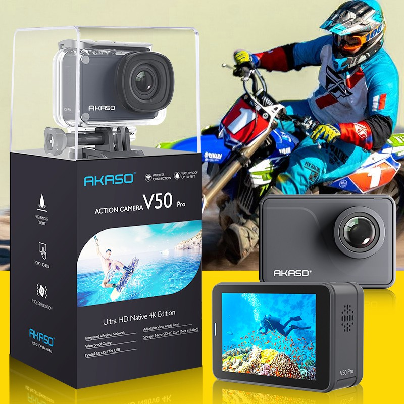 AKASO V50 PRO Native 4K/30FPS HD 20MP WiFi 30M Waterproof