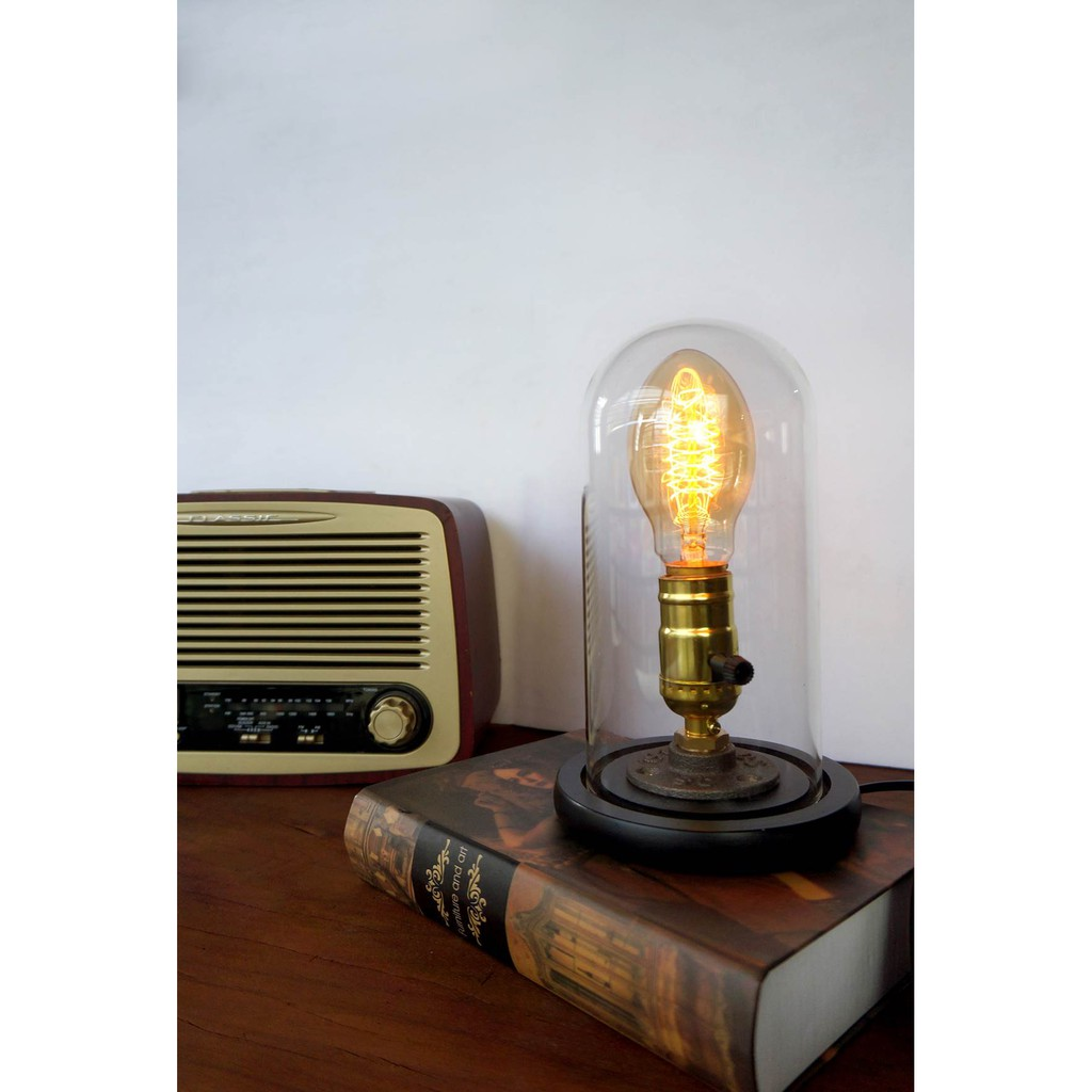 Table lamp premium with bt55 edison bulb dimmer