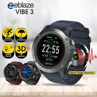 Zeblaze Vibe 3 Hr Sport Smart Watch Ip67 Heart Rate Long Standby Ios