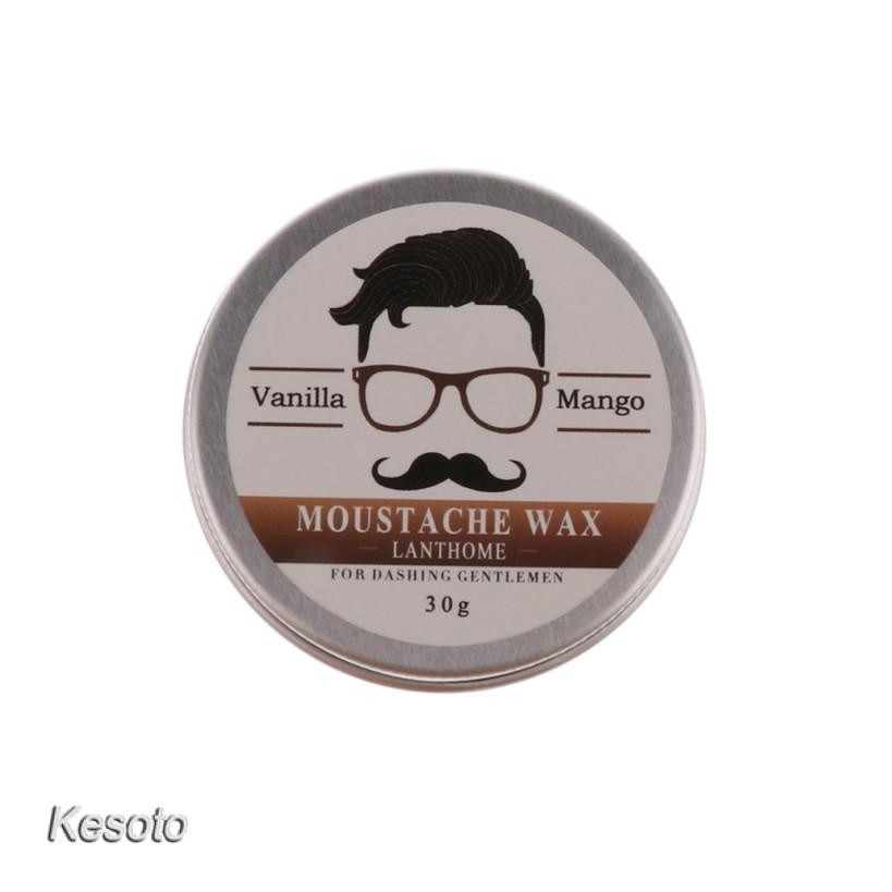 3 in 1 Men's Natural Beard Oil Balm Mustache Wax Grooming Brush Comb Kit+Bag