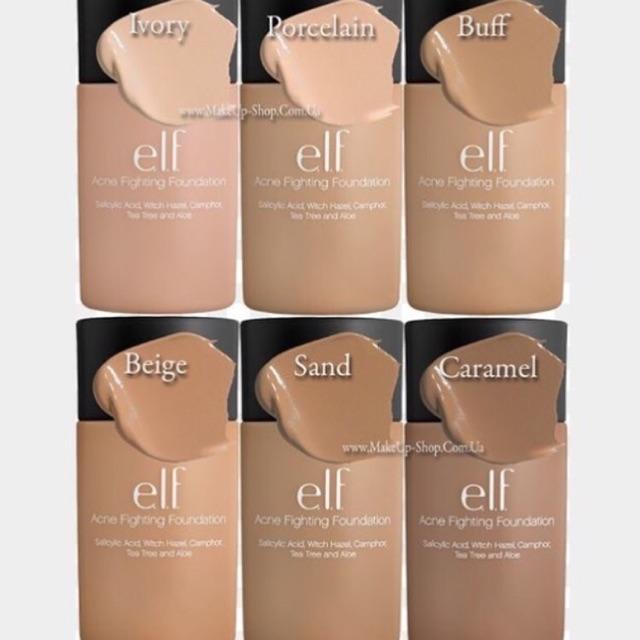 elf acne fighting foundation beige