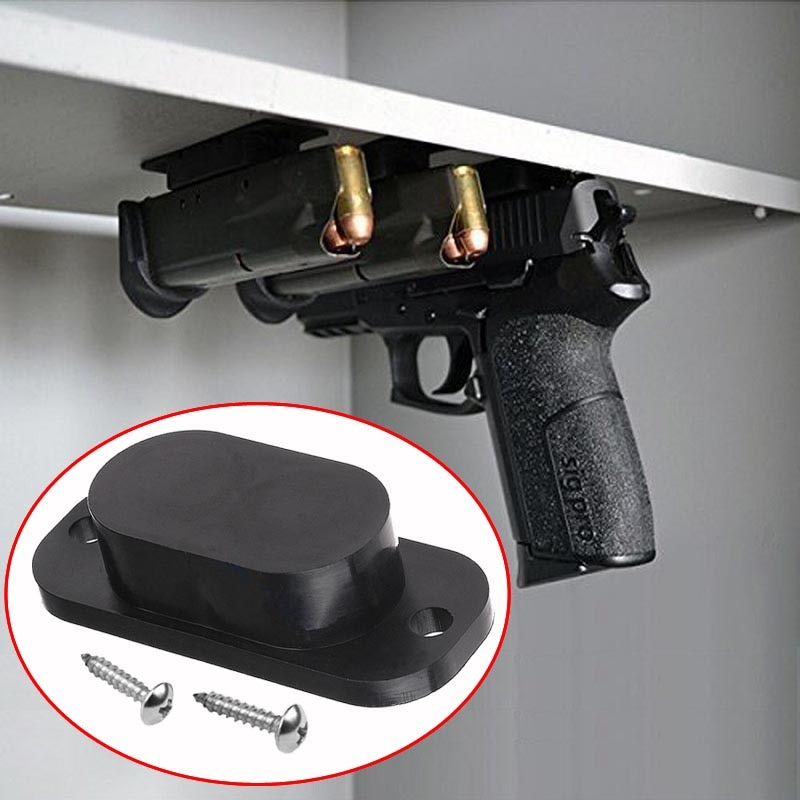 1 Pcs Magnetic Concealed Gun Pistol Holder Holster Under Desk Table Door Bed Magnet Gun Magnet Hunting Accessories Free Shopee Malaysia