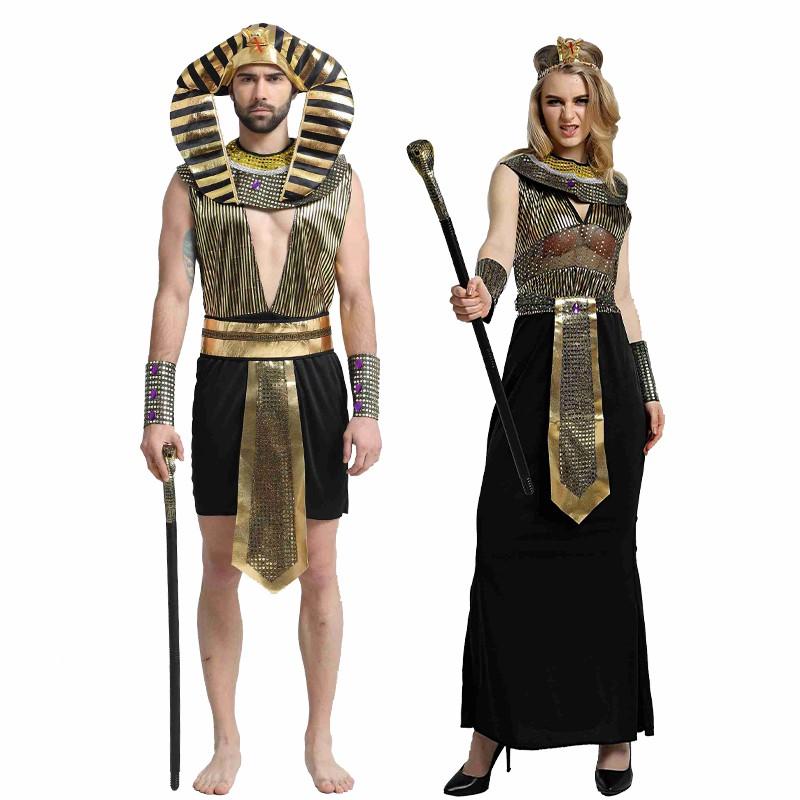 King Of Men Pharaoh Egypt Costume Carnival Party Noble Egyptain Leader Cosplay