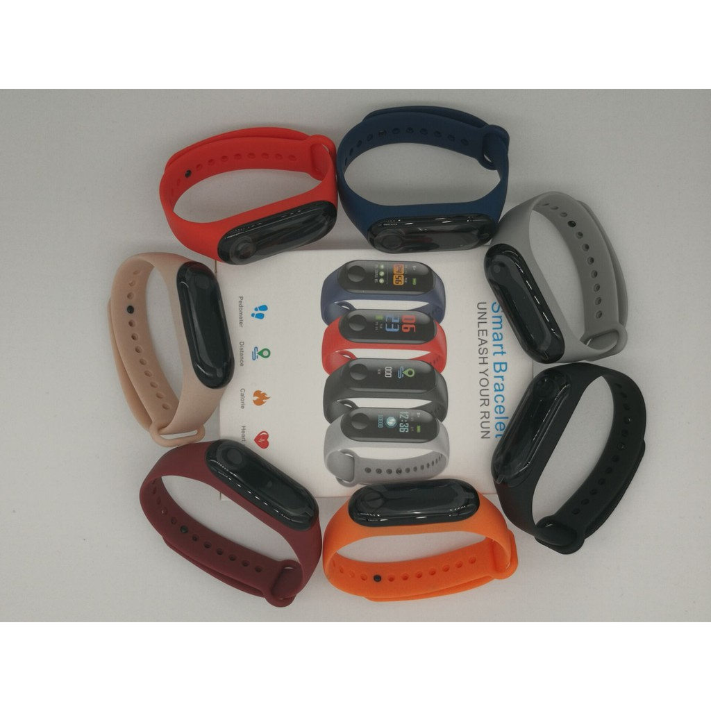 PK Huawei Band&Xiaomi Mi Band 3 Fitness Colorful Touch