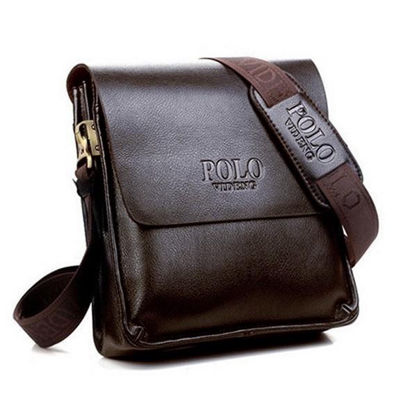 3a8ec1c38b ProductImage. ProductImage. Polo Men Leather Sling Shoulder Cross Body Man  Bag Brown