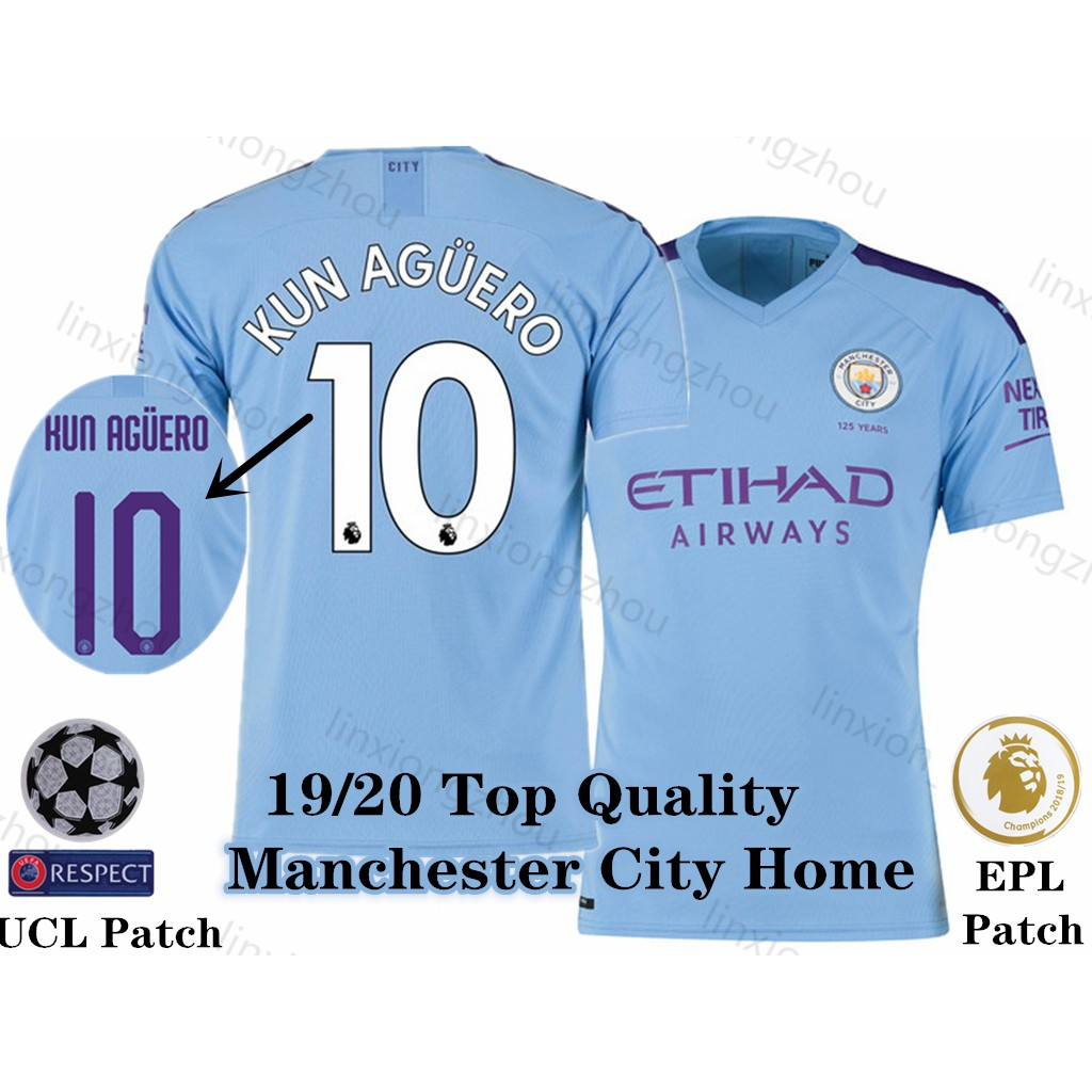 info for 2ce0a 5966d Top Quality 19/20 Manchester City Home Soccer Jersey Football Jersey