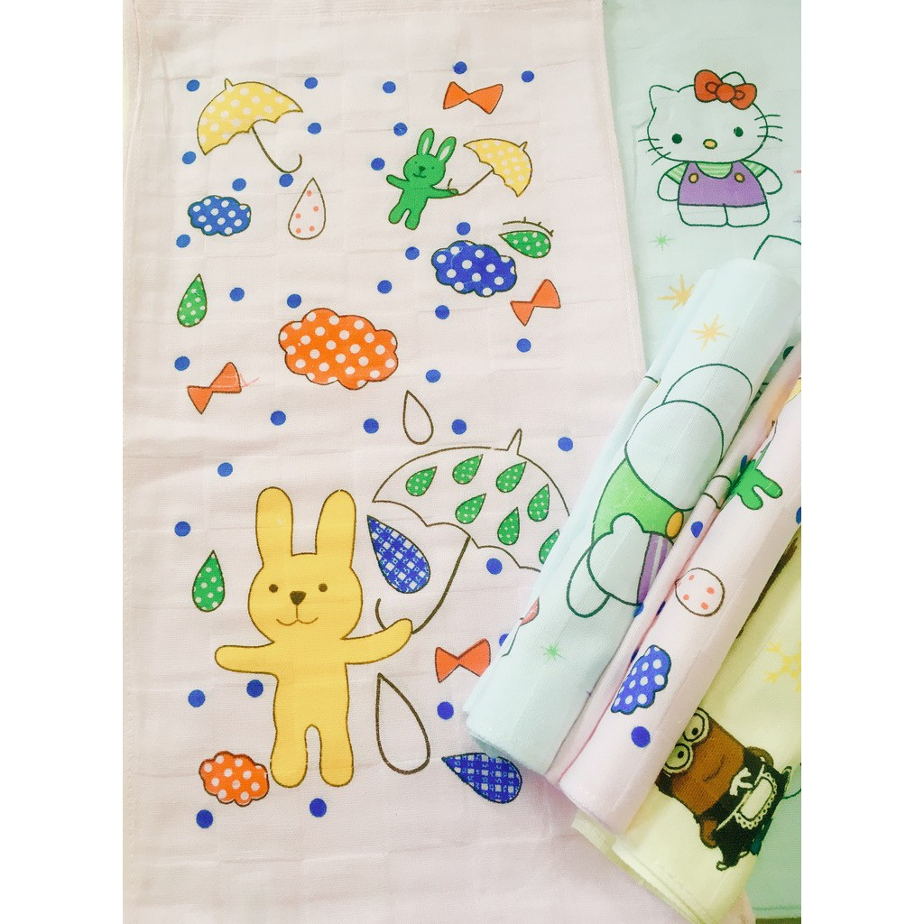 Cartoon Double Layer Cotton Gauze Towel Soft Absorbent Sports Fitness Sweating Towel