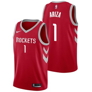 huge selection of 983a6 71669 *newest*Nike White NBA Houston Rockets Number 1 Trevor Ariza Basketball  Jerseys Jersey Official Amrican