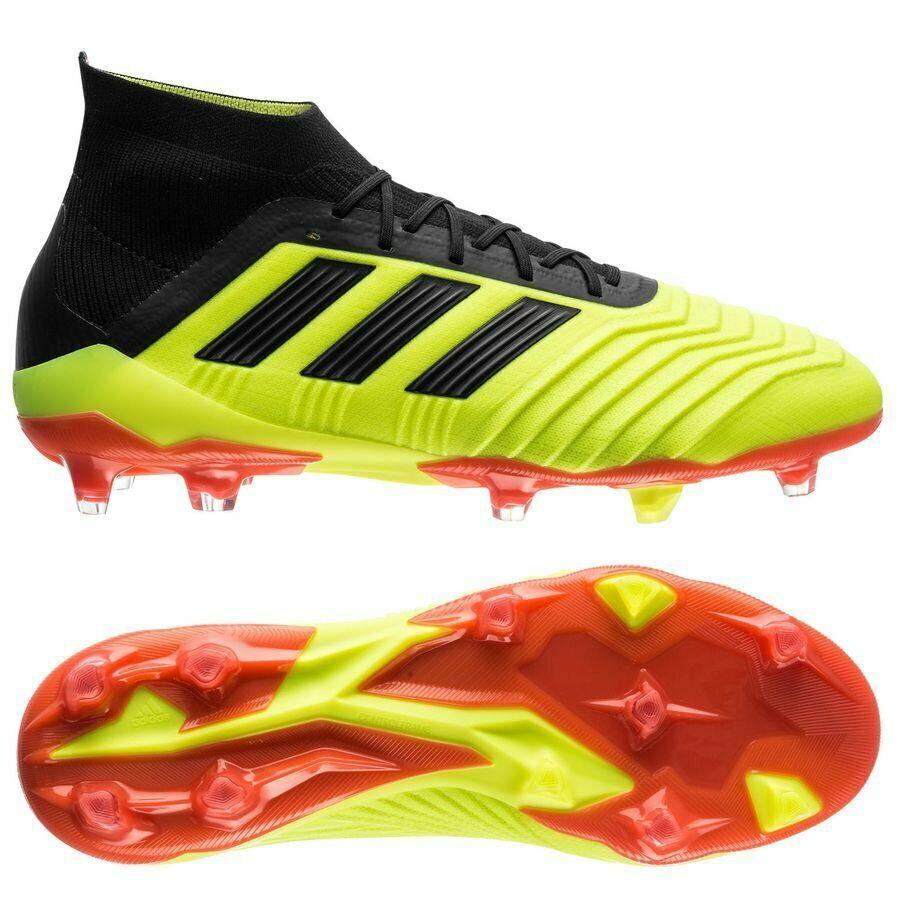 excursionismo Pensativo leyendo  New Adidas Predator 18.1 FG Soccer Cleats Boots Yellow-Black-R<wbr/>ed X  Nemeziz | Shopee Malaysia