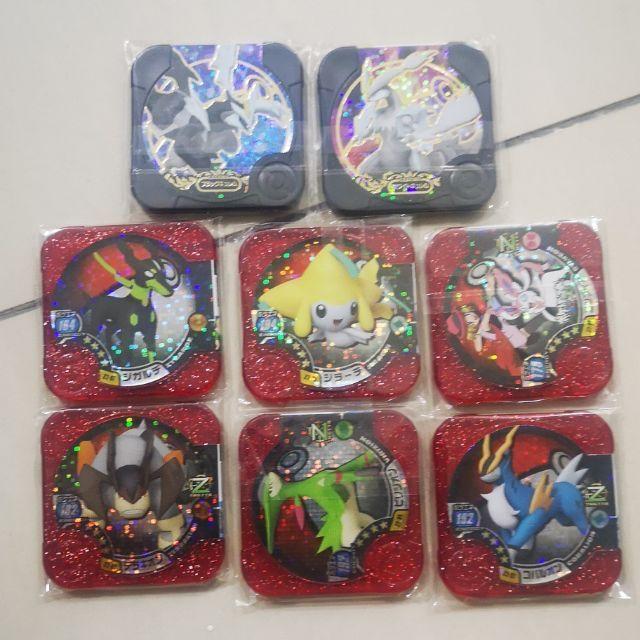 Free 3 ???? Pokemon Tretta Z2 Virizion Terrakion Cobalion slyveon zygarde greninja Jirachi black kyurem white kyurem